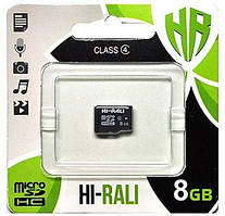 Карта памяти Hi-Rali microSDHC 8GB Class 4 (HI-8GBSDCL4-00)