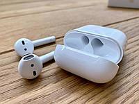 Apple AirPods 2 Белые. Наушники для apple airpods c БЕСПРОВОДНОЙ ЗАРЯДКОЙ (люкс копия 1в1 с оригиналом)