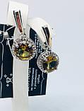 Серебряные серьги с золотом и камнем султанит Ассанта, фото 3