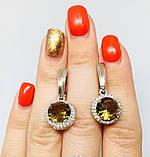 Серебряные серьги с золотом и камнем султанит Ассанта, фото 5