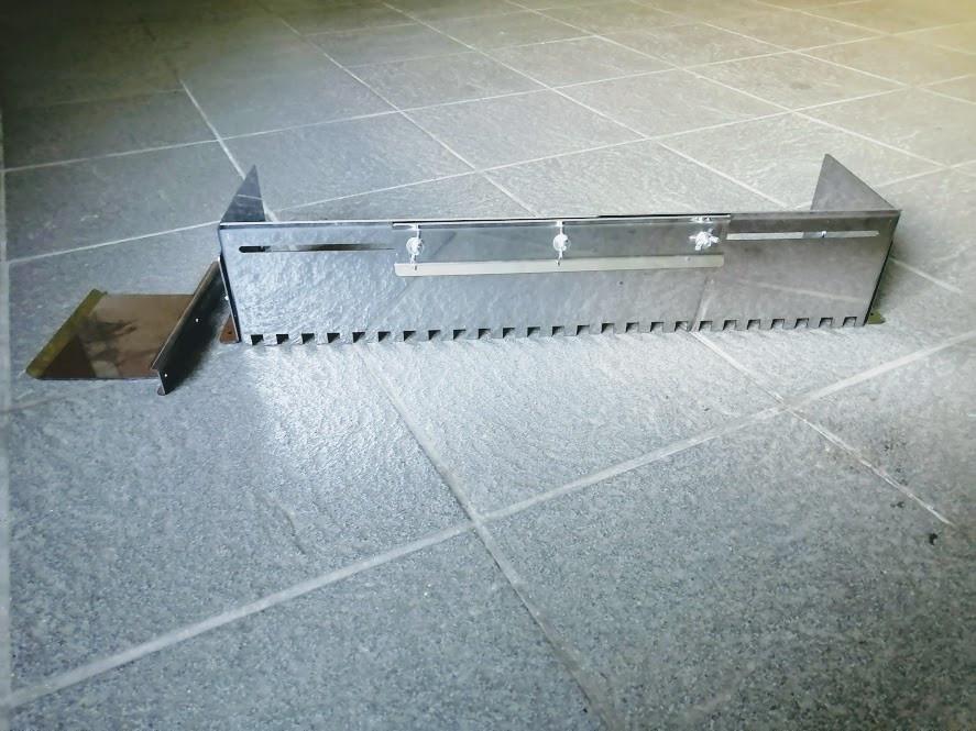 Гребёнка раздвижная универсальная для укладки плитки нержавеющая сталь (зуб 14x14мм)