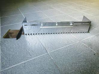 Гребёнка универсальная для укладки плитки нержавеющая сталь (зуб 14x14мм)