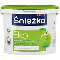 Śnieżka EKO акриловая краска для стен и потолков 4,2кг - 3л (водоэмульсионная снежка эко)