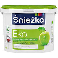 Śnieżka EKO акриловая краска для стен и потолков 7кг - 5л (водоэмульсионная снежка эко)