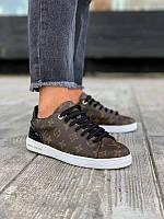Луи Виттон Монограмм Женские кроссовки коричневые Louis Vuitton Monogram. Повседневные кроссовки LV реплика
