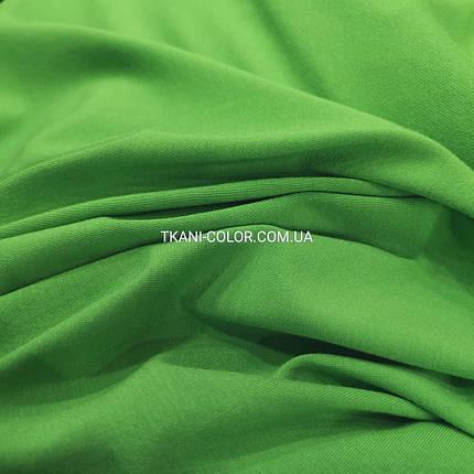 Трикотаж, віскоза зелений, 180см, фото 2