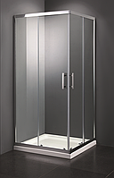 Душевая кабина 90х90 Vivia с поддоном 16см, прозрачное стекло 6мм