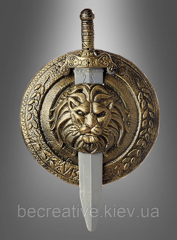 Гладиаторский меч и щит