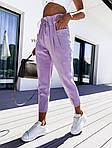 Женские брюки, лён - жатка, р-р С-М; М-Л (лавандовый), фото 3