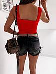Женская майка, креп - дайвинг, р-р С-М; М-Л (красный), фото 2