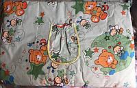 Защита на детскую кроватку из 4-х частей, Мишки и Пчёлки