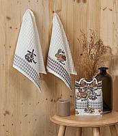 Кухонные полотенца Вафельные (ТМ Nilteks) хлопок 35*50 (2шт.) Турция, фото 1