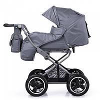 Прогулочная коляска универсальная 2в1 TILLY Family T-181 Grey Серый, резиновые надувные колеса