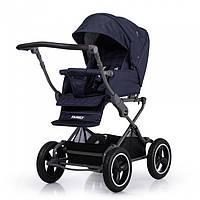 Универсальная прогулочная коляска TILLY Family T-181 Blue Синий, резиновые надувные колеса