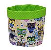 Комплект для декора комнаты 001 МПП (сказочные совы голубые / горох на зеленом), фото 2