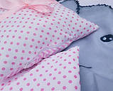 Комплект постільний у дитячу ліжечко, з захистом і балдахіном, фото 4