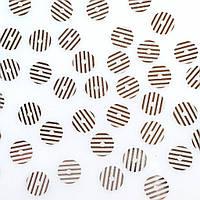 Пайетки Турция 6 мм. Круглая плоская. Полоски (Прозрачный и серебристый металлик). Упаковка 5 гр.