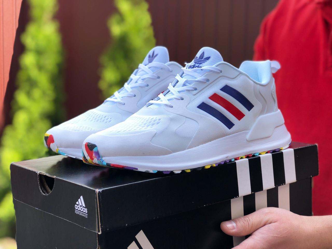 Мужские летние кроссовки Adidas,белые