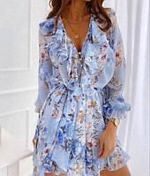 Турецкое женское шифоновое платье Хит продаж размеры 42 44 46 48