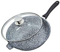 Сковорода WOK литая с антипригарным гранитным покрытием, 28 см (ск-00521)