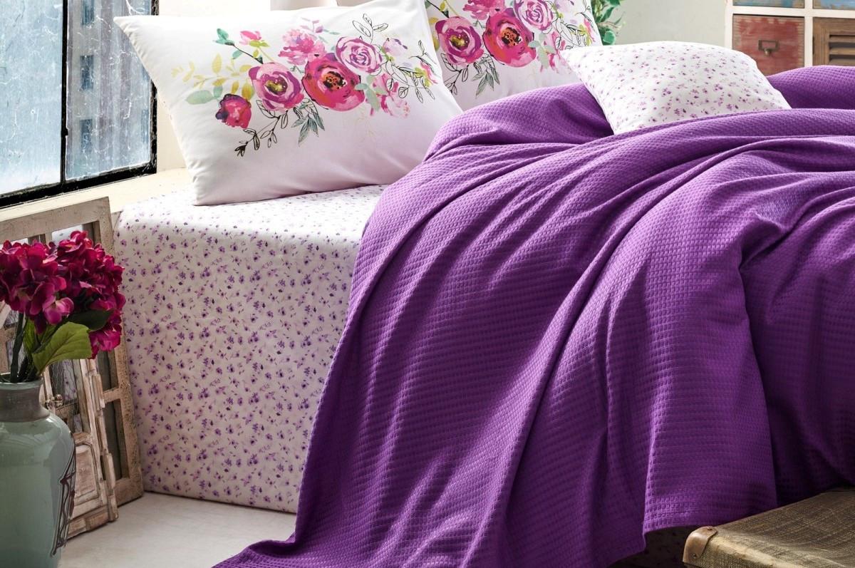 Летнее постельное белье 2-спальное евро COTTON BOX Viola