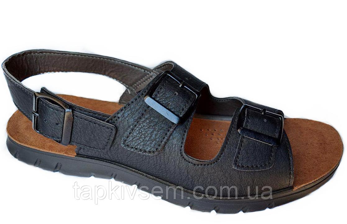 Мужские сандалии INBLU  (черные)  размер 43