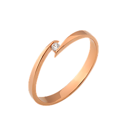 Кольцо золотое с бриллиантом Восход Солнца