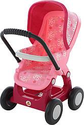 Коляска для кукол POLESIE №2 прогулочная 4-х колёсная (в пакете), розовая (48158-2)