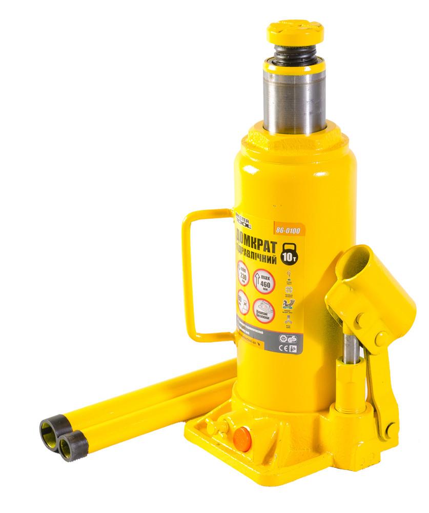 Домкрат гидравлический бутылочный Высота 230-460 мм. Mastertool (86-0100)