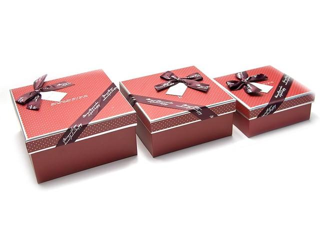 Квадратные подарочные коробки (комплект из 3-х штук)