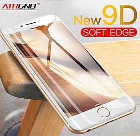 Защитное стекло 9D для Iphone 6  Белое Premium качество