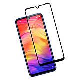 Защитное стекло  для Xiaomi Redmi 7  Чёрное, фото 5