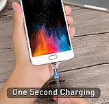 Магнитный кабель для зарядки USLION  с подсветкой, 1 м, фото 6