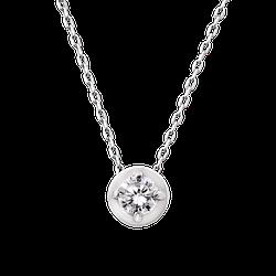 Колье серебряное минималистическое камень с цепочкой