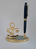 Позолоченная подставка с ручкой и фигуркой Знака зодиака Весы с кристалами сваровски
