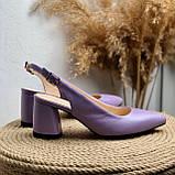 Женские босоножки на невысоком каблуке Натуральная кожа Возможен отшив в других цветах кожи и замши, фото 2