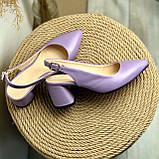 Женские босоножки на невысоком каблуке Натуральная кожа Возможен отшив в других цветах кожи и замши, фото 3