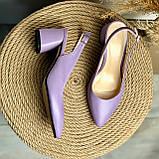 Женские босоножки на невысоком каблуке Натуральная кожа Возможен отшив в других цветах кожи и замши, фото 4