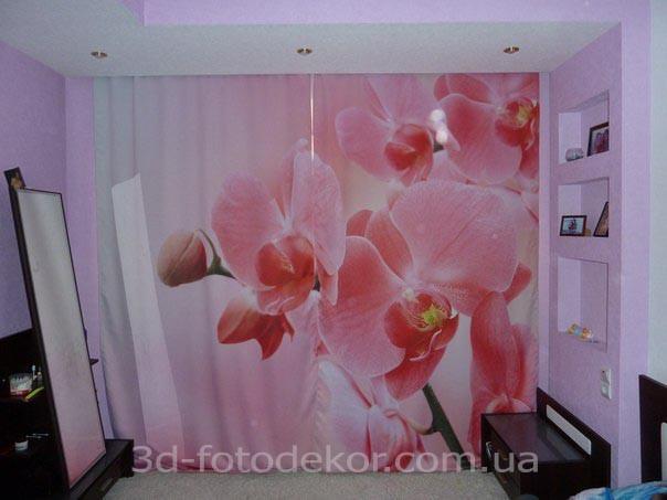 Фото Шторы с Орхидеей