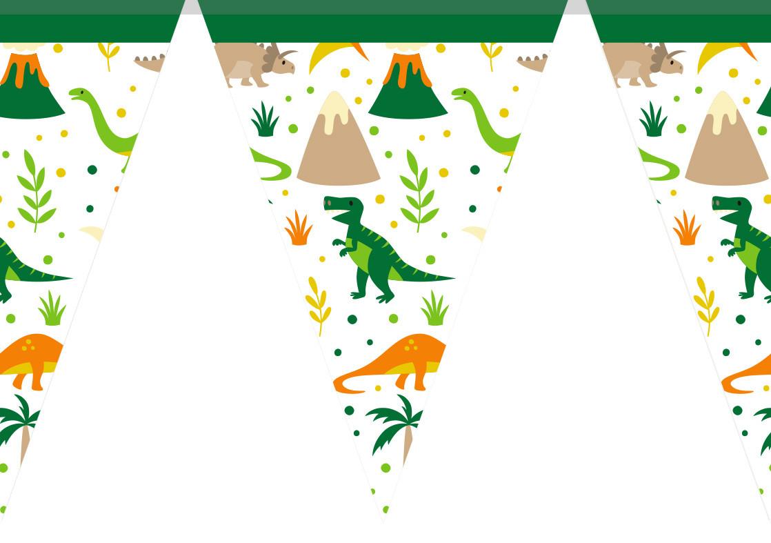 """Гирлянды бумажные  """"Динозавры, Dino"""""""