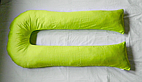 Наволочка на подушку для беременных U-340 ТМ БиоПодушка  цвет - салатовый