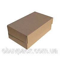 Коробка обувная 345х205х125 мужской туфель бурая, крафт от 50 шт