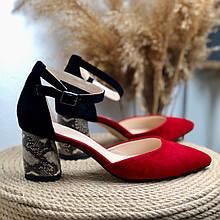 Жіночі босоніжки з загостреним носком Натуральна замша Можливий відшиваючи у інших кольорах шкіри і замші