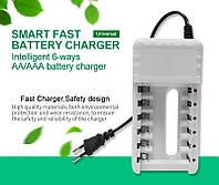 Зарядка на 6 аккумуляторов формата AA AAA