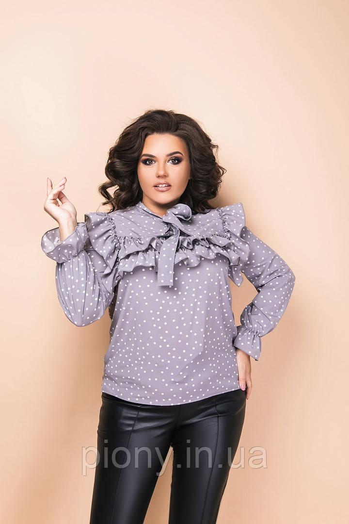 Женская Рубашка с оборками Батал