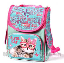 """Рюкзак школьный ортопедический, каркасный, «1 Вересня Smart» PG-11 """"Cute Cat"""" 558052, фото 2"""