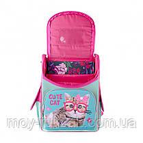 """Рюкзак школьный ортопедический, каркасный, «1 Вересня Smart» PG-11 """"Cute Cat"""" 558052, фото 3"""