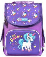 """Рюкзак школьный ортопедический, каркасный, «1 Вересня Smart» PG-11 """"Unicorn"""" 558051"""