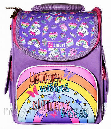 """Рюкзак школьный ортопедический, каркасный, «1 Вересня Smart» PG-11 """"Unicorn"""" 558047, фото 2"""