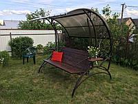 Качеля садовая  кованая с раскладным диваном